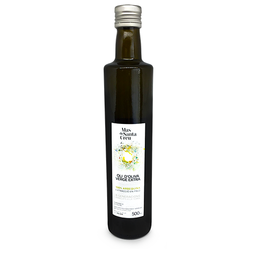 Oli ecològic d'oliva arbequina verge extra filtrat 500 ml